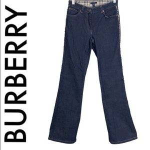 BURBERRY NOVA ACCENT STRETCH BOOTCUT JEANS SIZE 4